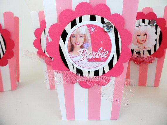 BARBIE Birthday Party Favors. Goodie Bag. snack  food by FluidYard