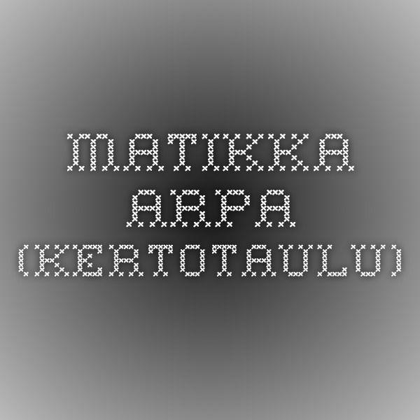 Matikka-arpa (kertotaulu)
