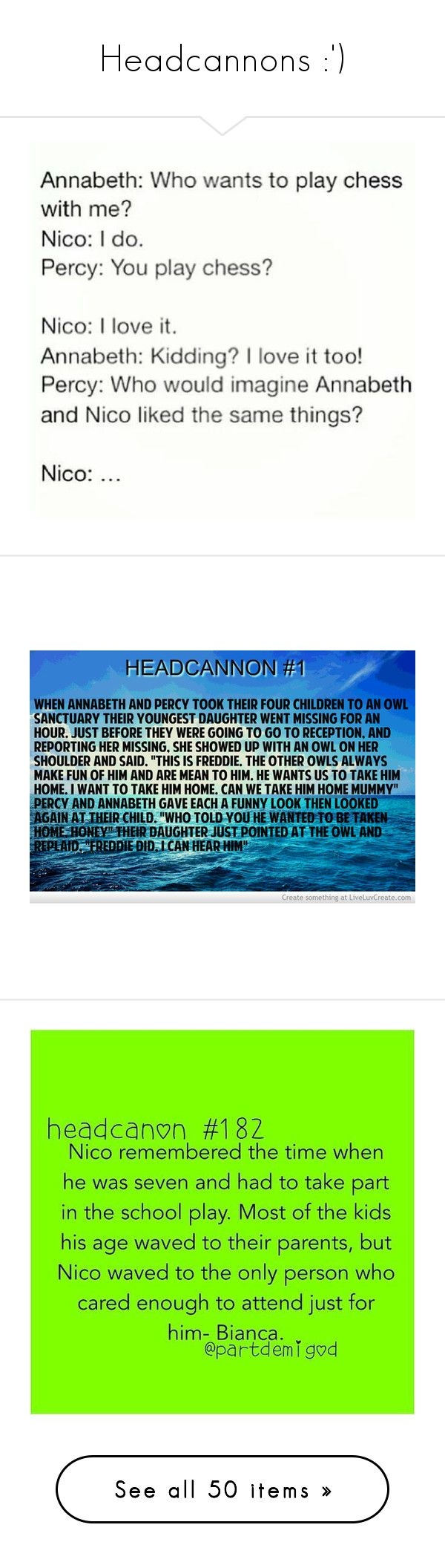 """Headcannons :')"" by anything-but-regular ❤ liked on Polyvore featuring home, home decor, wall art, percy jackson, pjo, phrase, quotes, saying, text and words"