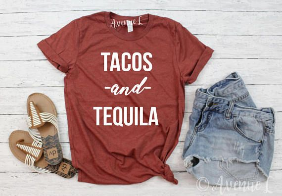 Tacos and Tequila ShirtGraphic Tee - Graphic Tees for Women - Vintage Style Graphic Tee - VIntage Graphic Tee - workout tanks - workout wearwww.theavenuel.comwwww.theavenuel.etsy.com