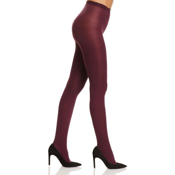 Hue Super Opaque Control Top Tights ($15) ❤ liked on Polyvore featuring intimates, hosiery, tights, deep burgundy, opaque hosiery, opaque tights, opaque stockings, hue pantyhose and opaque pantyhose