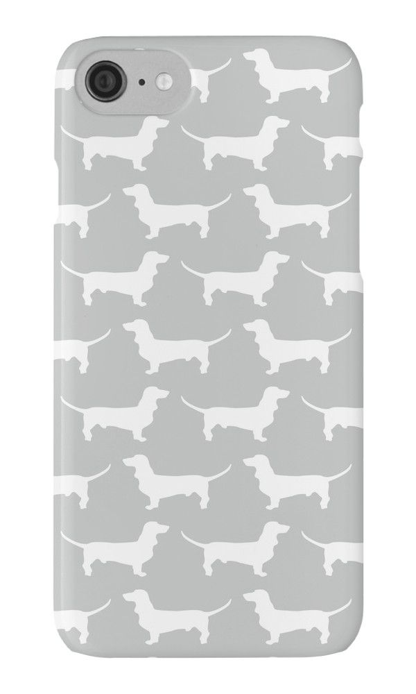 Silver Dachshund Pattern by XOOXOO  iPhone Cases & Skins  PHONE CASE FOR IPHONE 4/4S/5/5C/5S/6/6 PLUS/ 7/7 PLUS