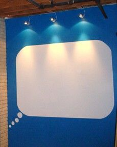 whiteboard paint thought bubble...i great for a playroom or a photobooth background.