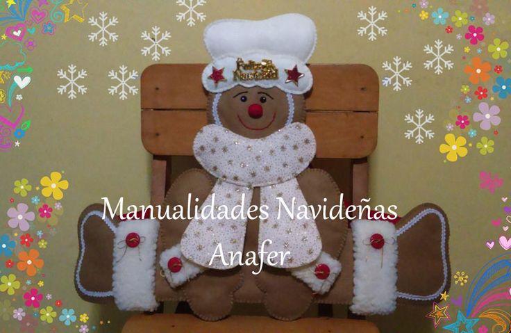 Para decorar tus sillas en esta Navidad. Nuevos modelos: Nieve, Renito, Noela, Santa, Pinguino y Jengibre.  Elaborados en paño lency y cosi...