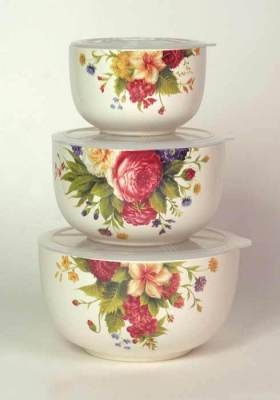 summer bouquet lidded food containers  would love to have them to take my lunch to work