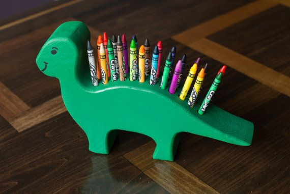 This dinosaur crayon holder makes it fun for every child to keep their crayons where they belong! Your little one will love being able to