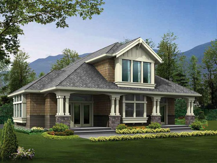 Single Story Craftsman House Plans One Bedroom Craftsman