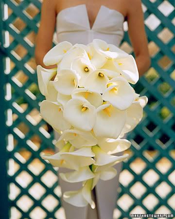 Bouquets...never seen calla Lilly's used like this!!