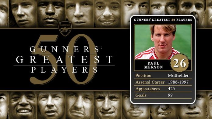 Gunners Greatest 50 Players - Paul Merson
