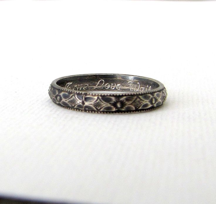 Silver Purity Ring Floral Promise Ring Antique Silver Posey Ring True Love Waits Ring Engraved Purity Rings Personalized Promise Rings by SilverSmack on Etsy https://www.etsy.com/listing/202626918/silver-purity-ring-floral-promise-ring