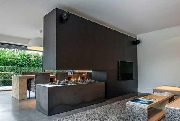 Decofilia Blog   48 chimeneas modernas para la separación de espacios