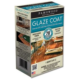 For Stump Table Famowood 1 Quart Glaze Coat Gloss