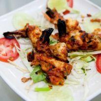 Tandoori Tiger Prawns: #Prawns marinated in an array of creams and masalas, grilled in a tandoor.
