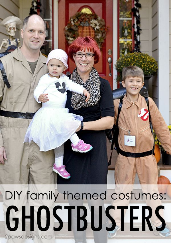 Celebrating Halloween with fun, family themed Ghostbusters costumes including Janine Melnitz and an adorable little ghost. Plus how to create your own (no sew!) Ghostbusters logo patch.