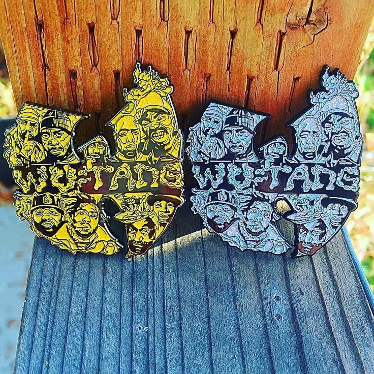 """#Repost @viberaidersvault  New VIBERAIDER Wu Tang Clan pins are now available for purchase on Etsy:  http://ift.tt/2dVQGMM  Please follow @viberaidersvault for updates on all new pins! LINK ALSO IN BIO  These pins are absolutely gorgeous! They are limited edition out of 50 and are 2"""" in size! Wear them on your hat beanie backpack jacket or anywhere else you'd like. They are double posted soft enamel full glitter pins!          #viberaider #viberaidersvault #pins #pinart #pingame #art…"""