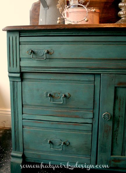 an old washstand cheered up with miss mustard seed milk paint, painted furniture, Man I love this color