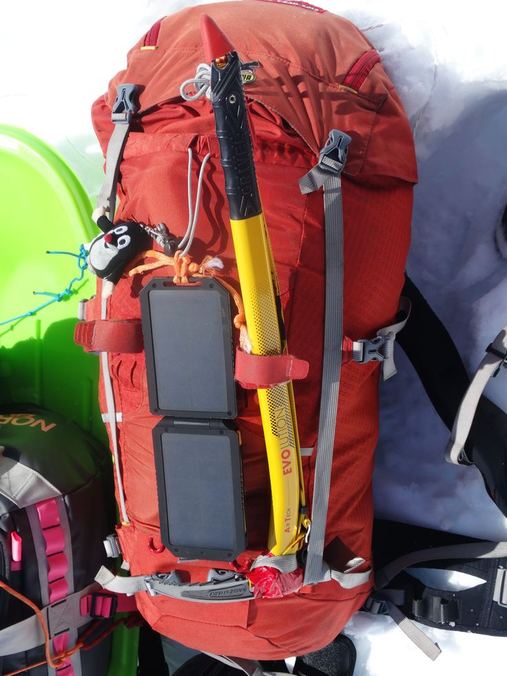 Lava solar charger during Mount McKinley trip #solarcharger #ładowarkasolarna