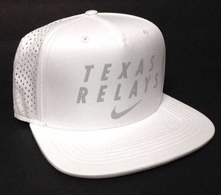 new$35 NIKE TEXAS RELAYS HAT White&Reflective Silver/Gray Mesh Running Men/Women #Nike #BaseballCap