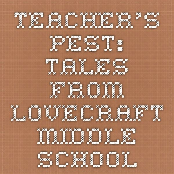Teacher's Pest: Tales From Lovecraft Middle School Educators' Guide #education #books