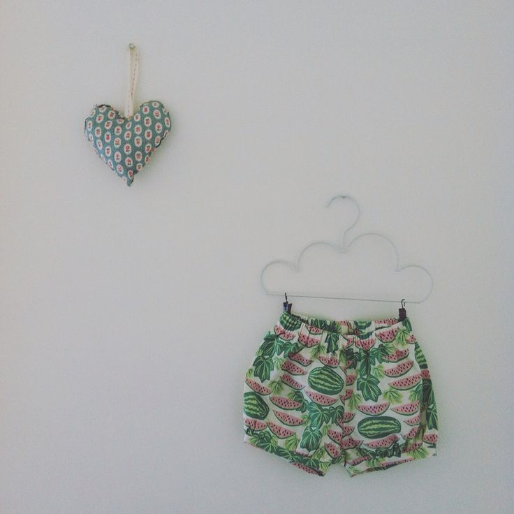"""Frankie"" bloomer shorts in watermelon print"