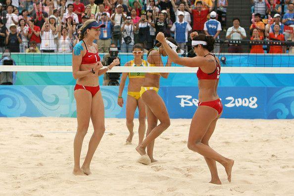 Larissa Franca and Misty May-Treanor Photo - Olympics Day 9 - Beach Volleyball