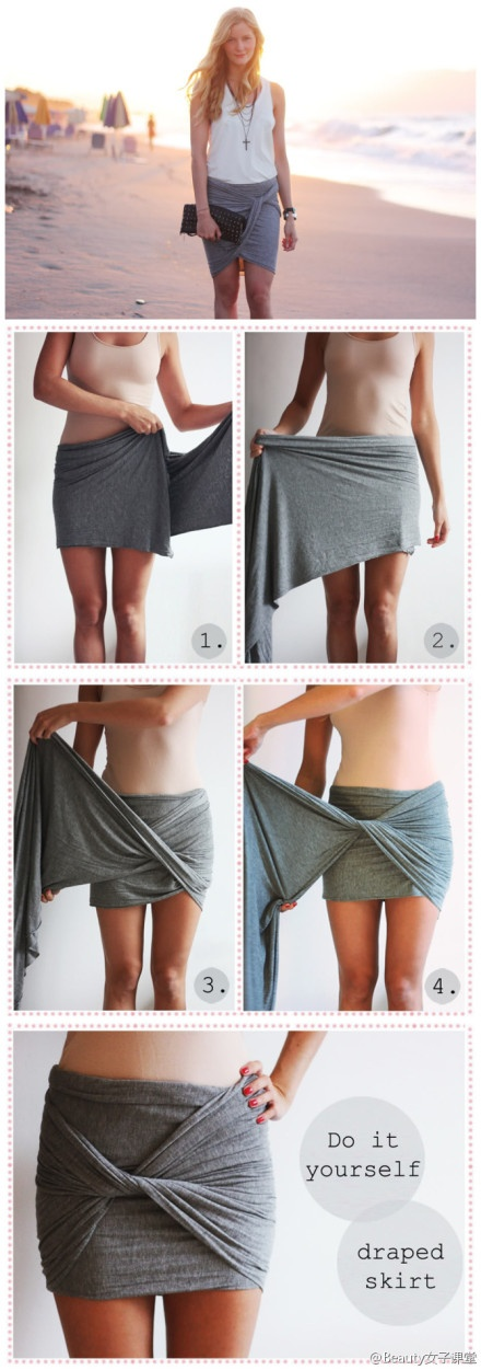 Make scarf more useful!! It would be a cute skirt in the summer!! :D