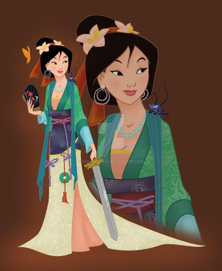 disney princess mulan by ohanamailadeviantartcom on