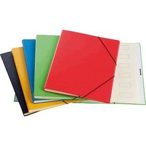 Carpeta clasificadora con 12 departamentos en colores surtidos
