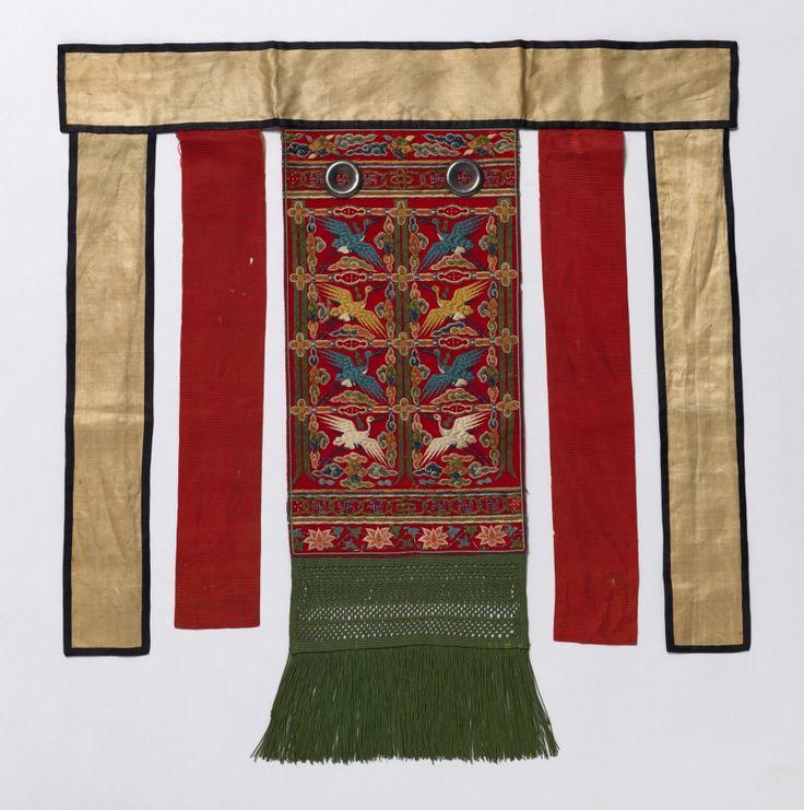 Back Apron for the Royal Ceremonial Robe (Husu)