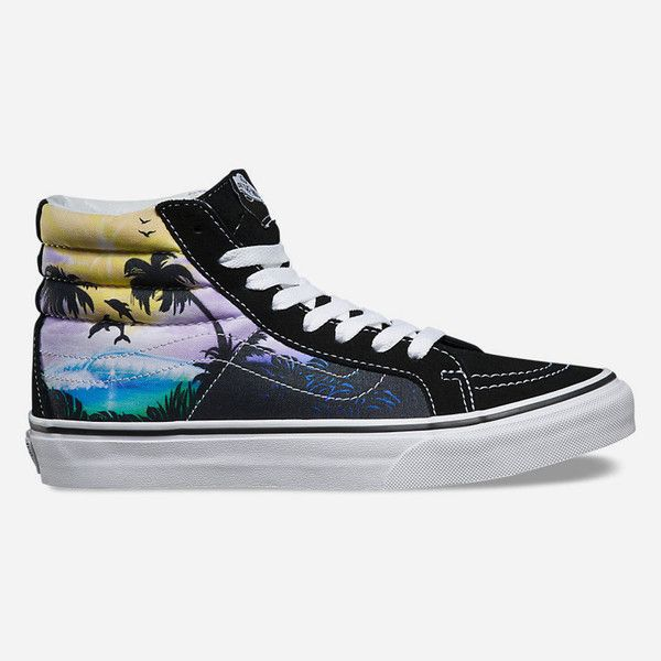 Vans Dolphin Beach SK8-Hi Slim Womens Shoes ($65) ❤ liked on Polyvore ·  Black High Top ...