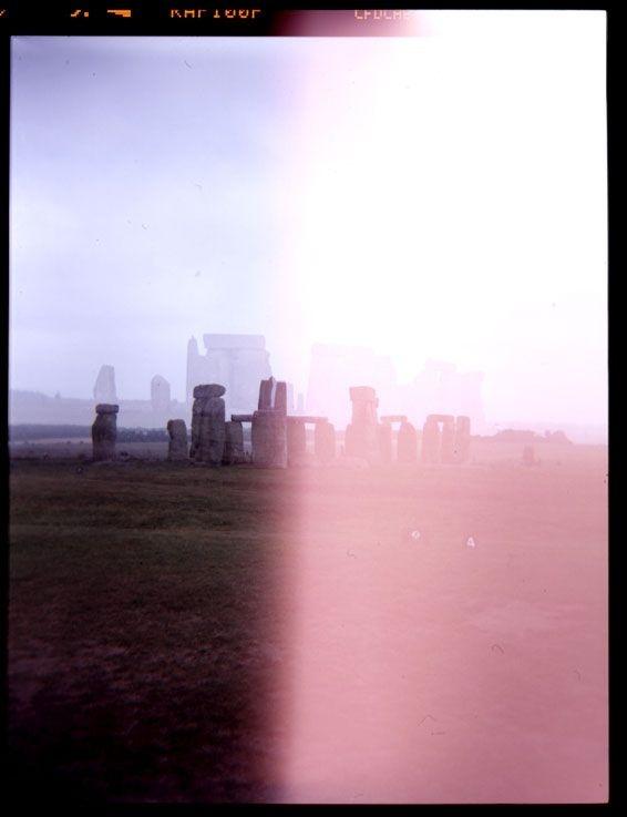 """Stonehenge double exposure with my Holga, I call it """"StonedHenge"""""""