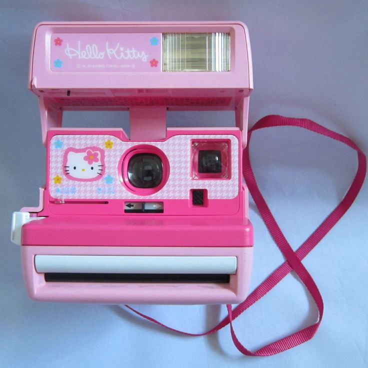 Rare Sanrio Hello Kitty Instant Polaroid Camera 600 From Japan Free Shipping #Polaroid