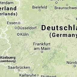 Stort kart over Tyskland