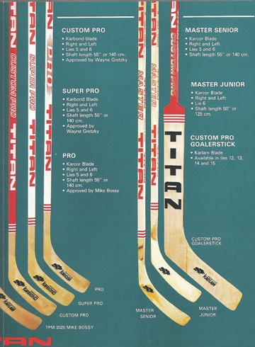 Titan Hockey Sticks | My Retro Toys | Hockey, Hockey gear, NHL