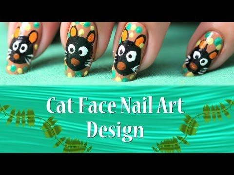 Super easy and super cute nail art, a cat on your nails .....well just go through this tutorial and I am sure like me you gonna love it for its cuteness!!!!!!!!!!!!!!!!!!!  Visit for Tutorial:- http://www.youtube.com/watch?v=KM9Fc7MrClM