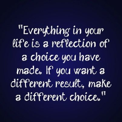 your choices