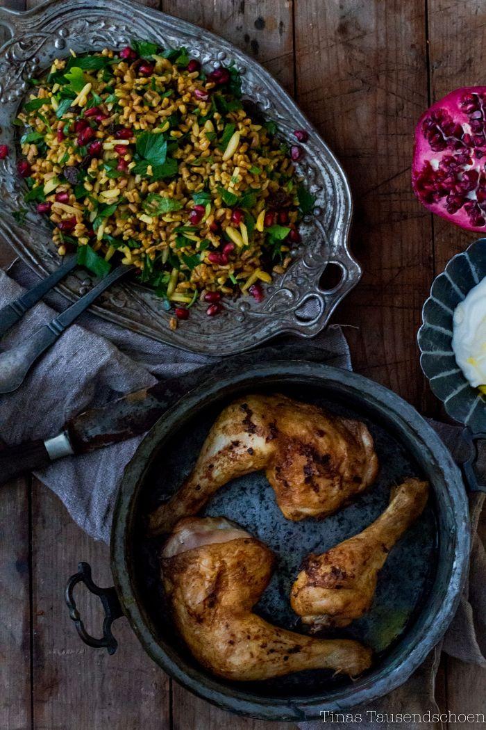 1 Zutat - 3 Gerichte! Orientalisches Weihnachtsessen mit Huhn! - Tinastausendschön