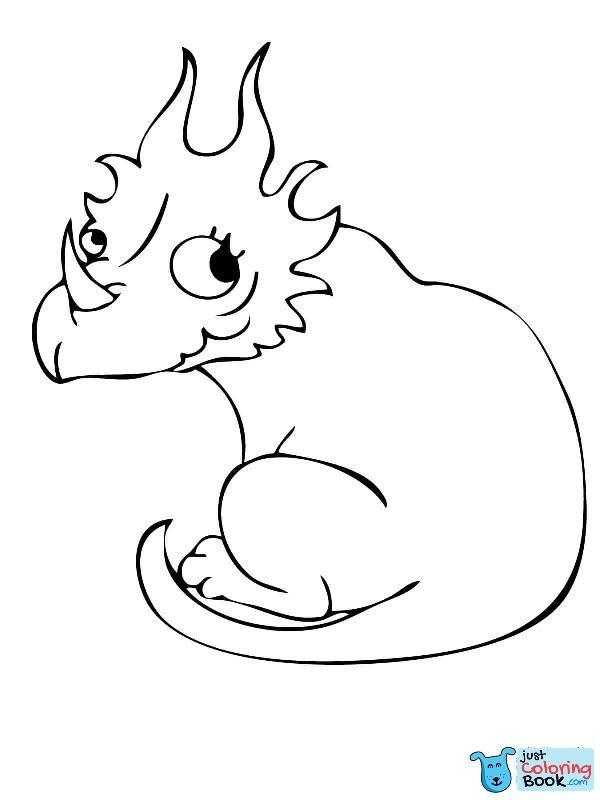 Cute Styracosaurus Dino Coloring Page Dinosaur Coloring Pages