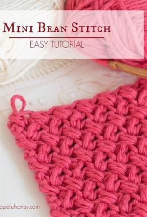 Como: Crochet The Mini Bean Stitch - Tutorial Fácil por angelina
