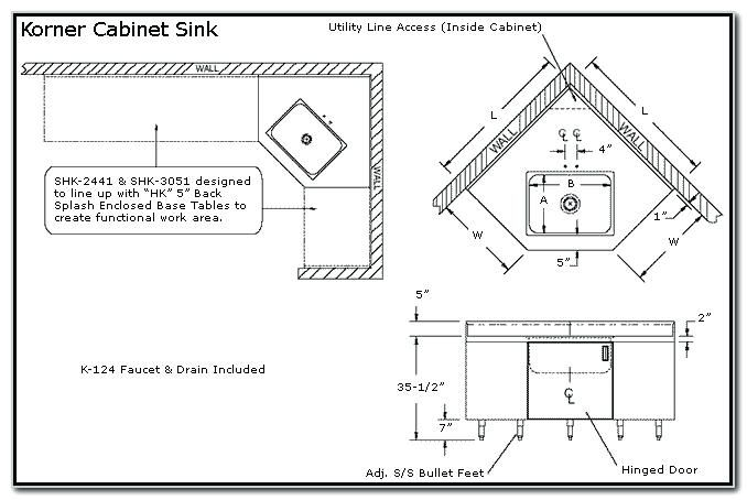 Corner Kitchen Sink Cabinet Dimensions Sewing Room