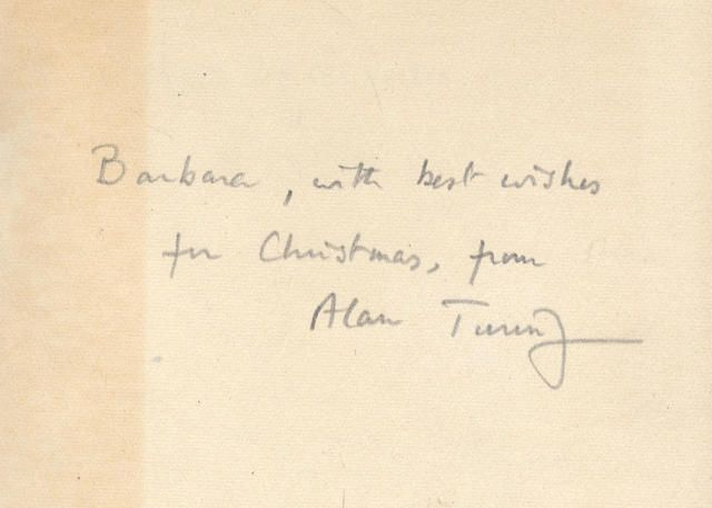 """TURING (ALAN) GRIMBLE (ARTHUR) A Pattern of Islands, INSCRIBED BY TURING, John Murray, 1953; with History of Western Philosophy, inscribed by Sara Turing to """"D[octor]. Greenbaum in memory of Alan"""", George Allen & Unwin Limited, 1948, 8vo (2) - #Bonhams #Turing #Science #Computers #ComputerScience #TuringTest #Enigma #Codebreaker #Bletchley #Signed #Signature #History #Genius #Legend"""