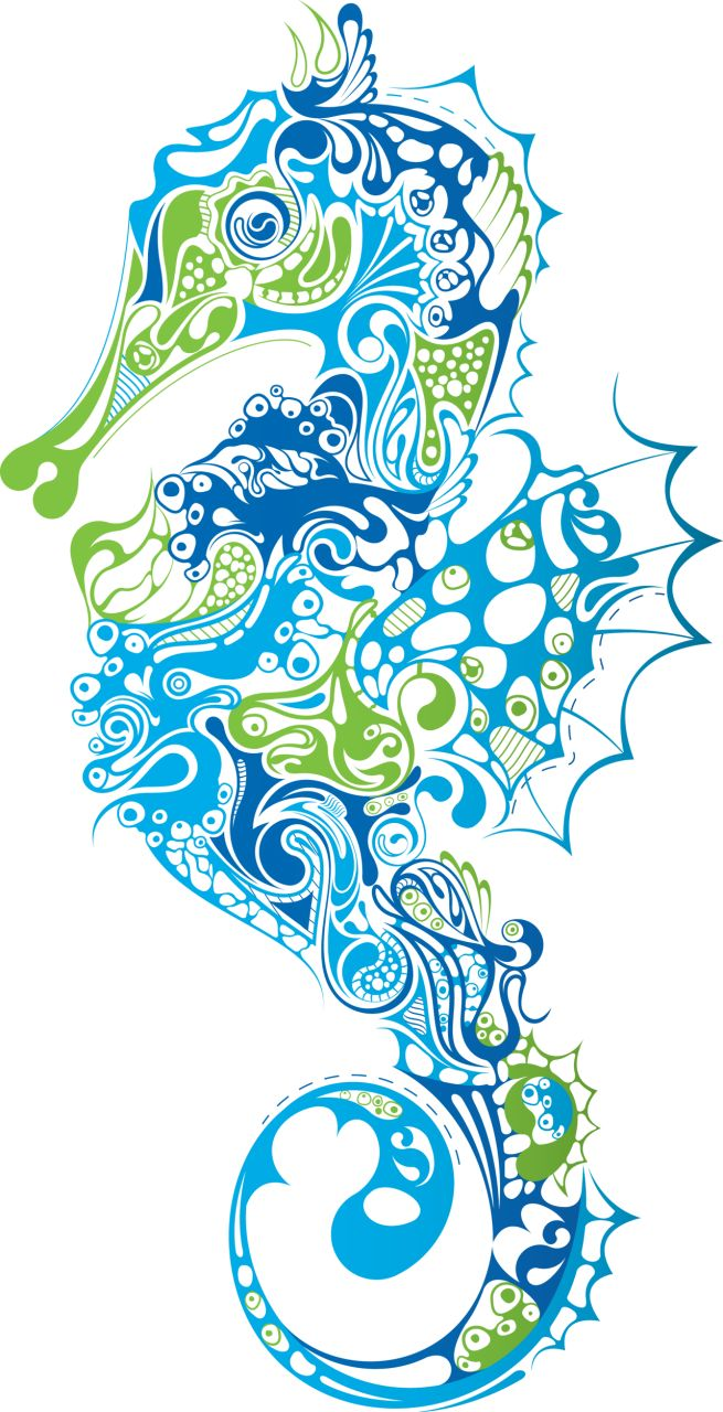 seahorse clipart - Google Search