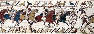 Battle of Hastings - Wikipedia, the free encyclopedia 1066 between the Norman-French army of Duke William II of Normandy and an English army under the Anglo-Saxon King Harold II, during the Norman conquest of England. It took place near Hastings, close to the present-day town of Battle, East Sussex, and was a decisive Norman victory. Norman knights and archers at the Battle of Hastings, depicted in the Bayeux Tapestry