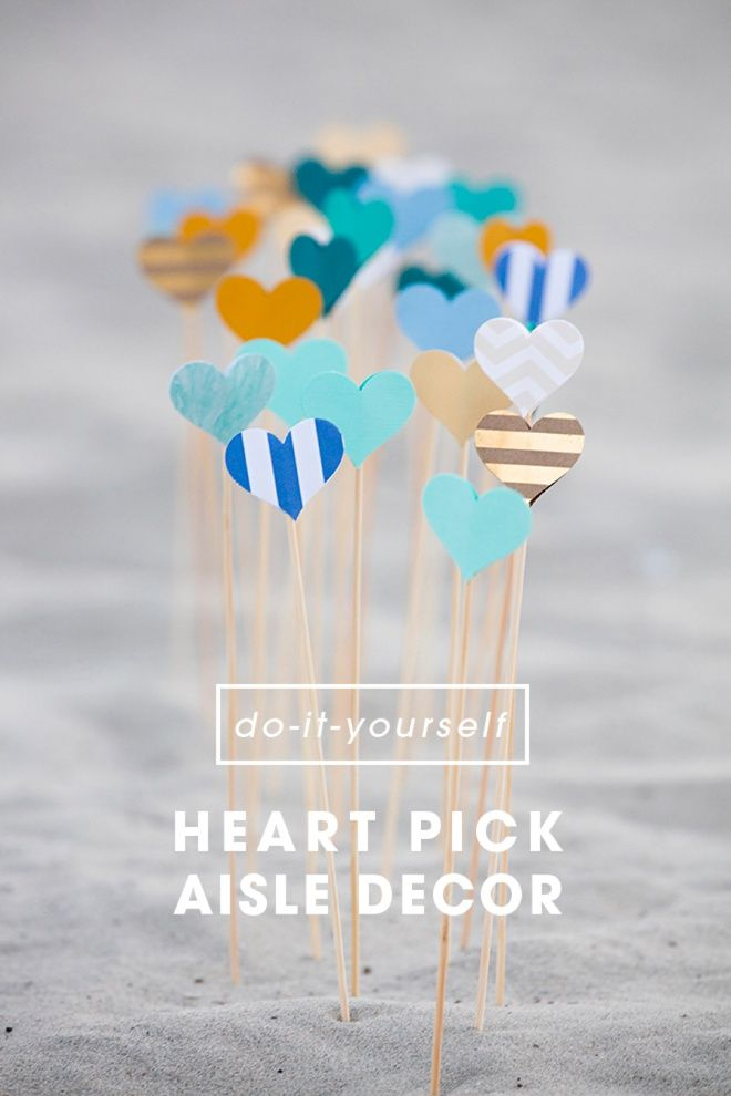 Decorating for a wedding, engagement party or gift opening brunch has never been so simple! Something Turquoise shares a quick and dramatic project for creating DIY heart picks. Whip up a bunch in less than 30 minutes!