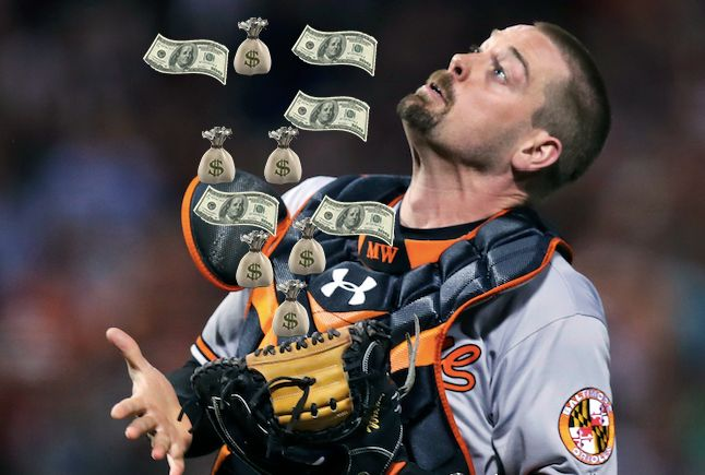 All signs point to Matt Wieters getting overpaid in free agency = It happens every winter. One free agent receives a contract so far out of line from the production that a team should realistically expect from him that it leaves everyone else around the game shaking their heads. The pick from.....