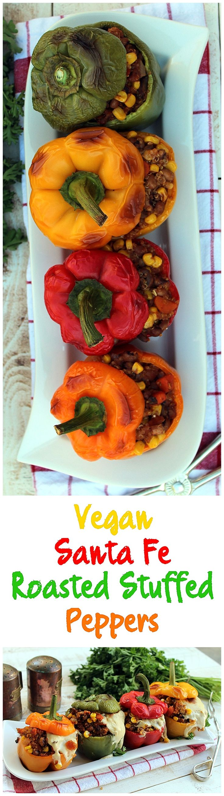 Santa Fe Roasted Stuffed Peppers…
