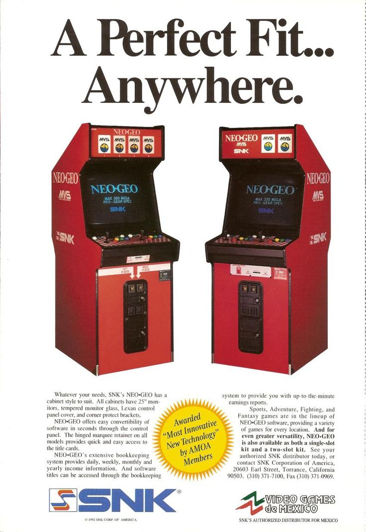 SNK Neo-Geo MVS ad from 1992