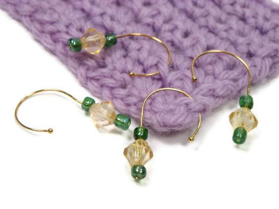Crochet Stitch Markers Diy : Removable Stitch Markers Set, DIY Crochet, Knitting, Snag Free, Beade ...