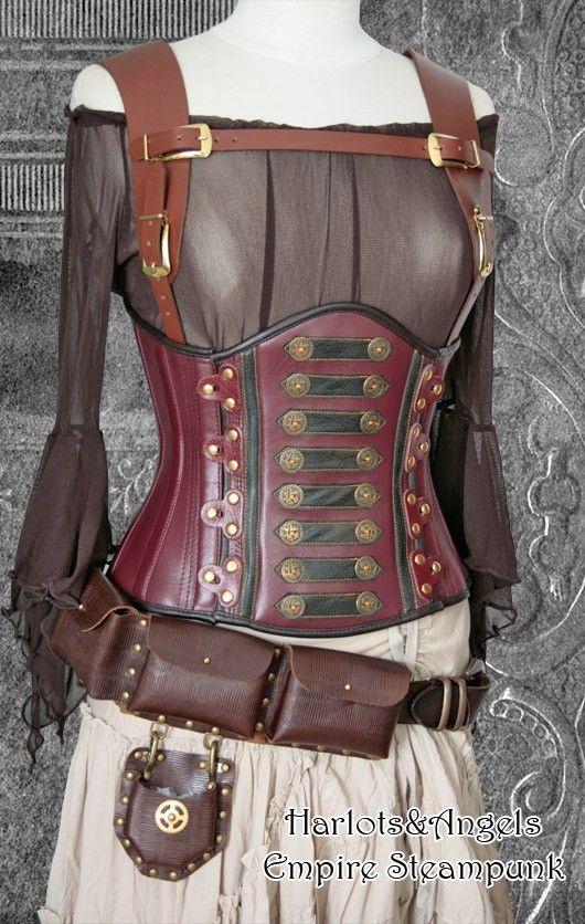 "Steampunk ""Inca"" Underbust corset"
