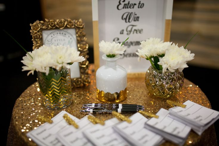 Wedding Photographer Booth Setup at a Bridal Show, Bridal Show Booth Ideas…